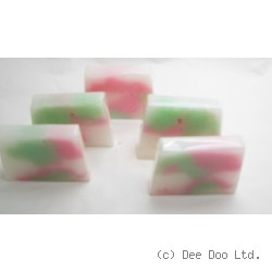 Cotton Flowers Soap Slice