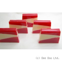 Deep Red Spice Soap Slice